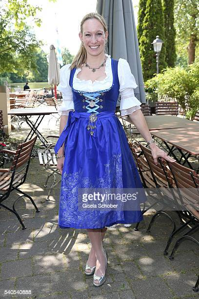 Dr Christine Theiss during the celebration at Seehaus after the wedding of Renata Kochta and Thomas Frank at the registry office at Mandlstrasse on...