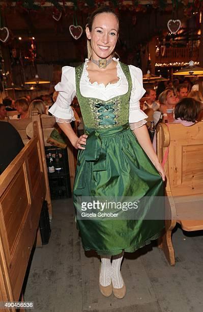 Dr Christine Theiss during the 'Sauerland Stammtisch' at Oktoberfest 2015 at Weinzelt /Theresienwiese on September 28 2015 in Munich Germany