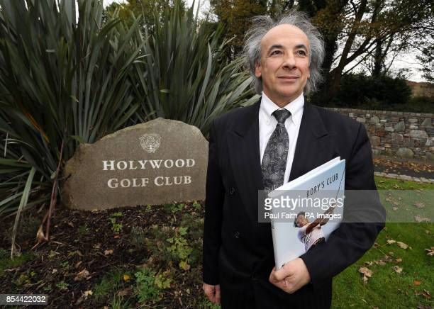 Dr Claude Costecalde with his new book on golfer Rory McIlroy and his links with his hometown Holywood Golf Club in Co Down