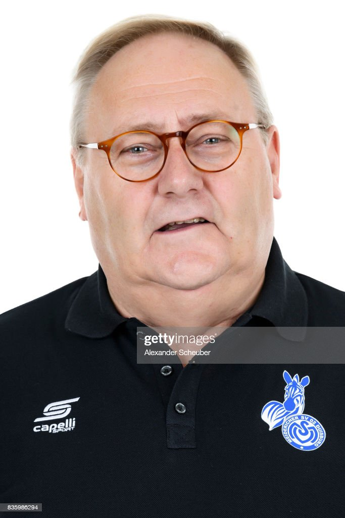 Dr. Claus Petsch of MSV Duisburg poses during the Allianz Frauen Bundesliga Club Tour at MSV Duisburg on August 17, 2017 in Duisburg, Germany.