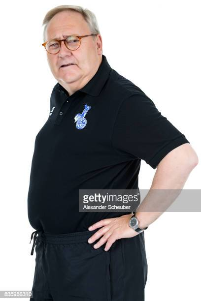Dr Claus Petsch of MSV Duisburg poses during the Allianz Frauen Bundesliga Club Tour at MSV Duisburg on August 17 2017 in Duisburg Germany