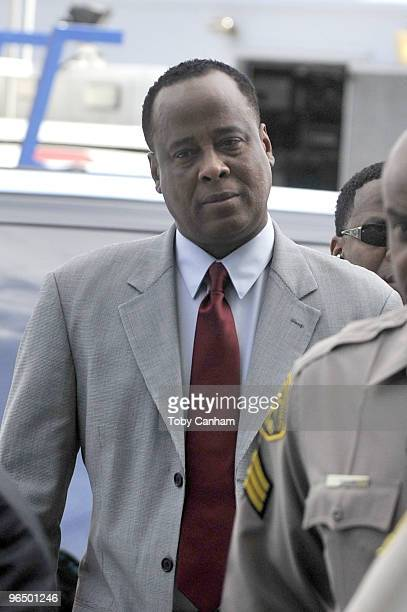 Dr Conrad Murray arrives at the Airport Courthouse for arraignment on February 8 2010 in Los Angeles California Murray is reportedly being charged...