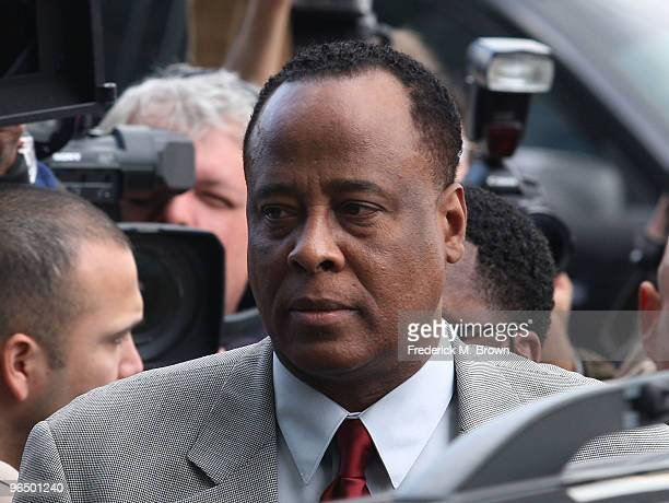 Dr Conrad Murray arrives for his arraignment of at the Airport Los Angeles Courthouse on February 8 2010 in Los Angeles California Murray is...