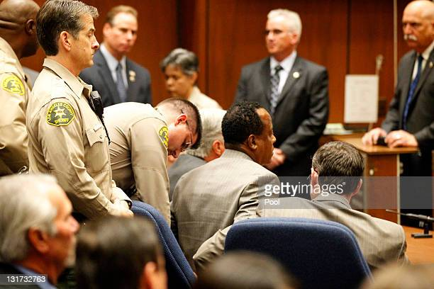 Dr Conrad Murray is remanded into custody after the jury returned with a guilty verdict in his involuntary manslaughter trial at the Los Angeles...