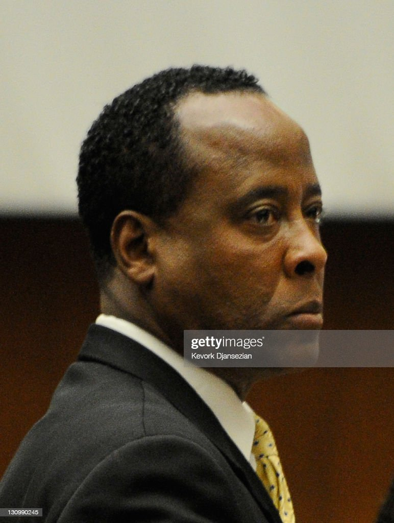 Dr. <a gi-track='captionPersonalityLinkClicked' href=/galleries/search?phrase=Conrad+Murray&family=editorial&specificpeople=5945898 ng-click='$event.stopPropagation()'>Conrad Murray</a> listens during the final stage of Murray's defense during his involuntary manslaughter trial in the death of singer Michael Jackson at the Los Angeles Superior Court on October 31, 2011 in Los Angeles, California. Murray has pleaded not guilty and faces four years in prison and the loss of his medical licenses if convicted of involuntary manslaughter in Jackson's death.