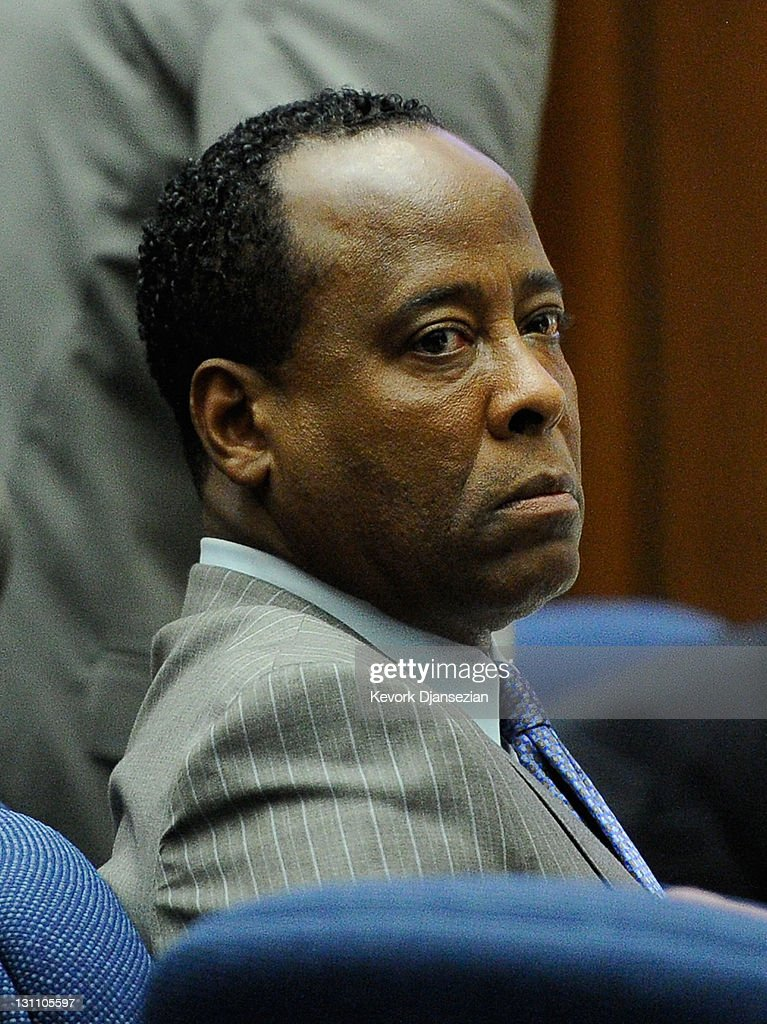 Dr. <a gi-track='captionPersonalityLinkClicked' href=/galleries/search?phrase=Conrad+Murray&family=editorial&specificpeople=5945898 ng-click='$event.stopPropagation()'>Conrad Murray</a> looks on prior to mid-morning recess during the final stage of <a gi-track='captionPersonalityLinkClicked' href=/galleries/search?phrase=Conrad+Murray&family=editorial&specificpeople=5945898 ng-click='$event.stopPropagation()'>Conrad Murray</a>'s defense in his involuntary manslaughter trial in the death of singer Michael Jackson at the Los Angeles Superior Court on November 1, 2011 in Los Angeles, California. Dr. Murray decided not to testify for his defense. Murray has pleaded not guilty and faces four years in prison and the loss of his medical licenses if convicted of involuntary manslaughter in Jackson's death.