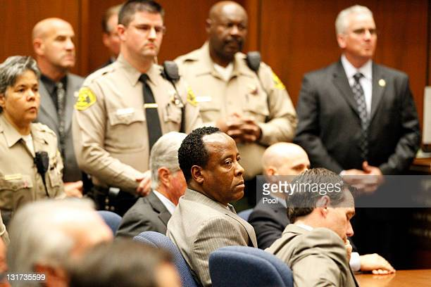 Dr Conrad Murray remained expressionless as the jury returned with a guilty verdict in his involuntary manslaughter trial at the Los Angeles Superior...
