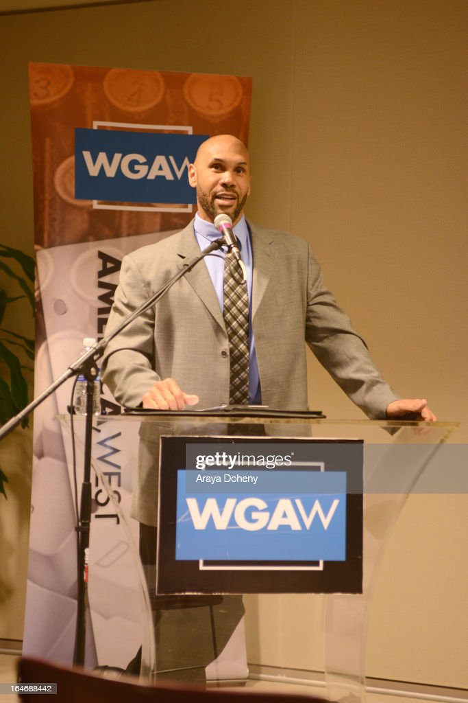 Dr. Darnell Hunt attends the WGAW's 2013 TV Staffing Brief - Press Conference on March 26, 2013 in Los Angeles, California.