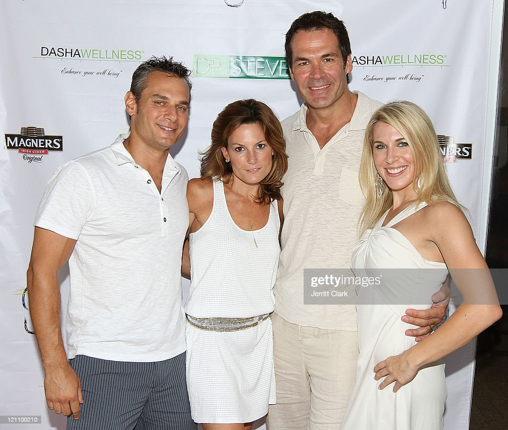 the hamptons fitness wellness poolside soiree photos and images dr darren pollack shannon pollack dr steve salvatore of the dr