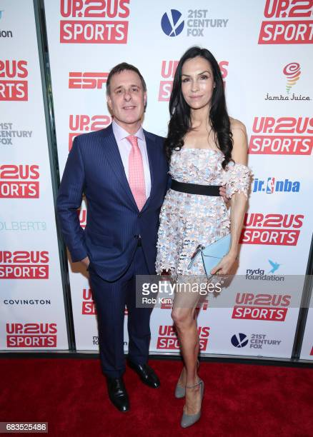 Dr David Colbert and Famke Janssen attend the Up2Us Sports Gala 2017 at Guastavino's on May 15 2017 in New York City
