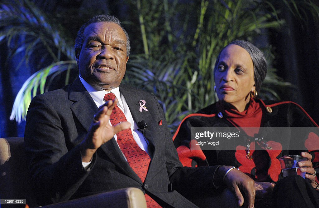 Dr. David Driskell and Dr. Johnnetta Betsch Cole attend the College Bound 20th Anniversary Celebration at the Hyatt Regency on Capital Hill on October 18, 2011 in Washington, DC.