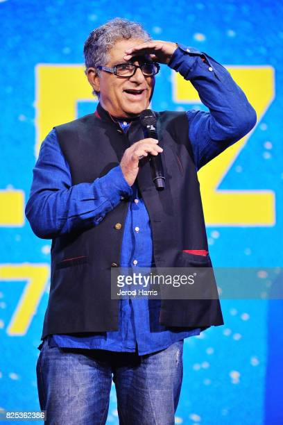 Dr Deepak Chopra speaks on stage at WORLDZ Cultural Marketing Summit at Hollywood and Highland on August 1 2017 in Los Angeles California