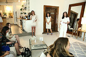 Dr Dendy Engelman Senior Vice President General Manager at Dermarche Labs Esther Dong and Beauty and Lifestyle Expert Luciene Salomone speak at the...