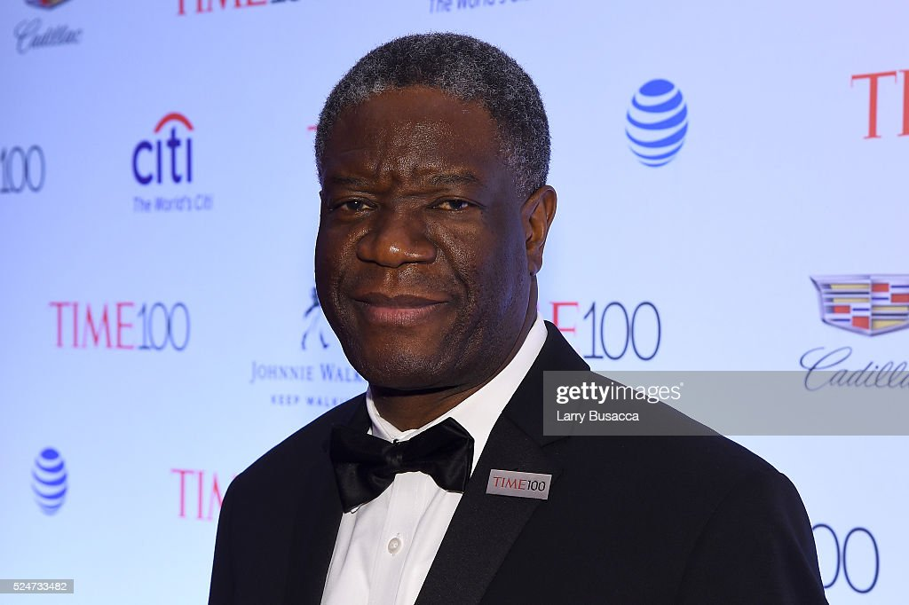Dr. <a gi-track='captionPersonalityLinkClicked' href=/galleries/search?phrase=Denis+Mukwege&family=editorial&specificpeople=5127888 ng-click='$event.stopPropagation()'>Denis Mukwege</a> attends 2016 Time 100 Gala, Time's Most Influential People In The World - Cocktails at Jazz At Lincoln Center at the Times Warner Center on April 26, 2016 in New York City.