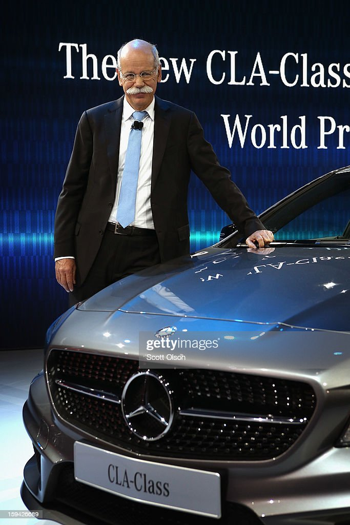 Dr. Dieiter Zetsche Chairman of the Board at Mercedes-Benz introduces the 2014 CLA at the North American International Auto Show on January 13, 2013 in Detroit, Michigan. The auto show will be open to the public January 19-27.