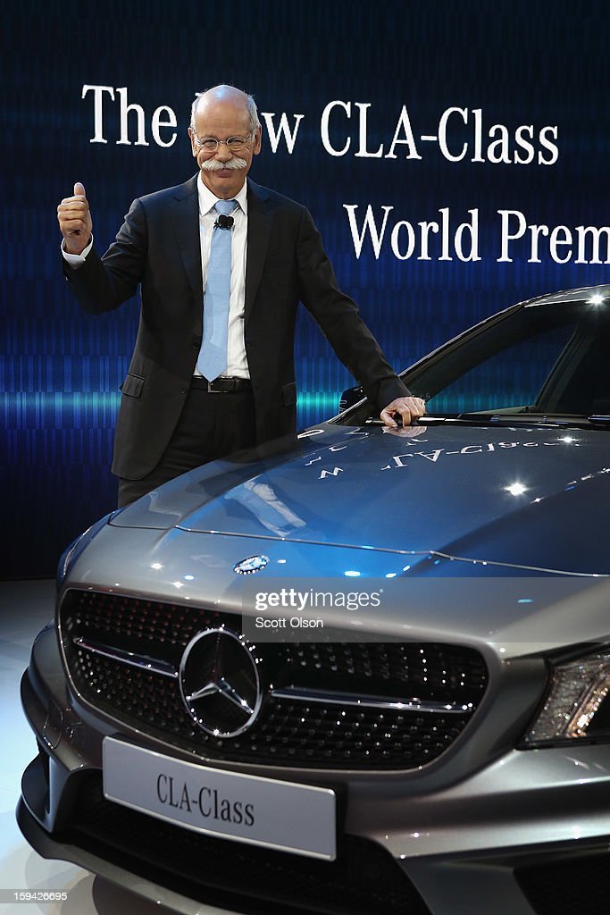Dr. Dieter Zetsche Chairman of the Board at Mercedes-Benz introduces the 2014 CLA at the North American International Auto Show on January 13, 2013 in Detroit, Michigan. The auto show will be open to the public January 19-27.
