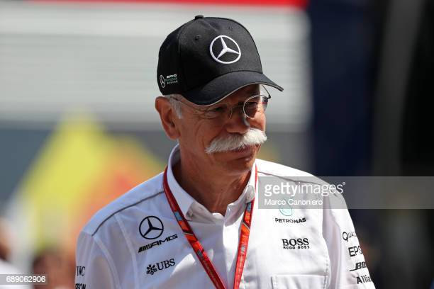 Dr Dieter Zetsche Chairman of the Board of Management of Daimler AG and Head of Mercedes Benz Cars in the Paddock during the Monaco Formula One Grand...