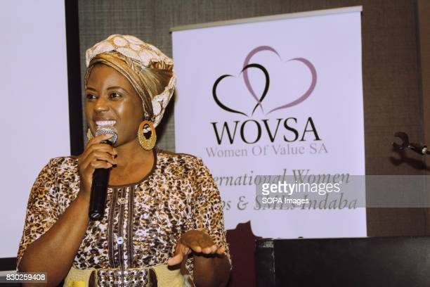 Dr Dimakatso Malwela CEO of Women of Value addressing delegates attending the Annual 2nd International Women Entrepreneur Indaba The event was...