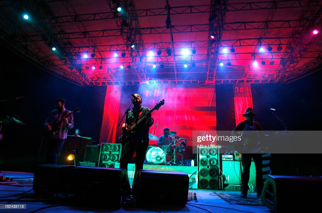 Dr. Dog performs at SummerStage at Rumsey Playfield, Central Park on September 20, 2012 in New York City.