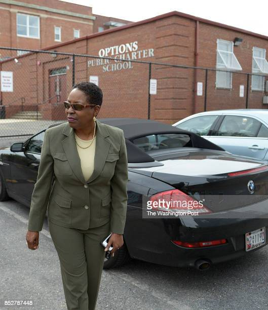 Dr Donna Montgomery Chief Executive Officer at Options Public Charter School arrives and parks her car at her parking spot at the school PLEASE NOTE...