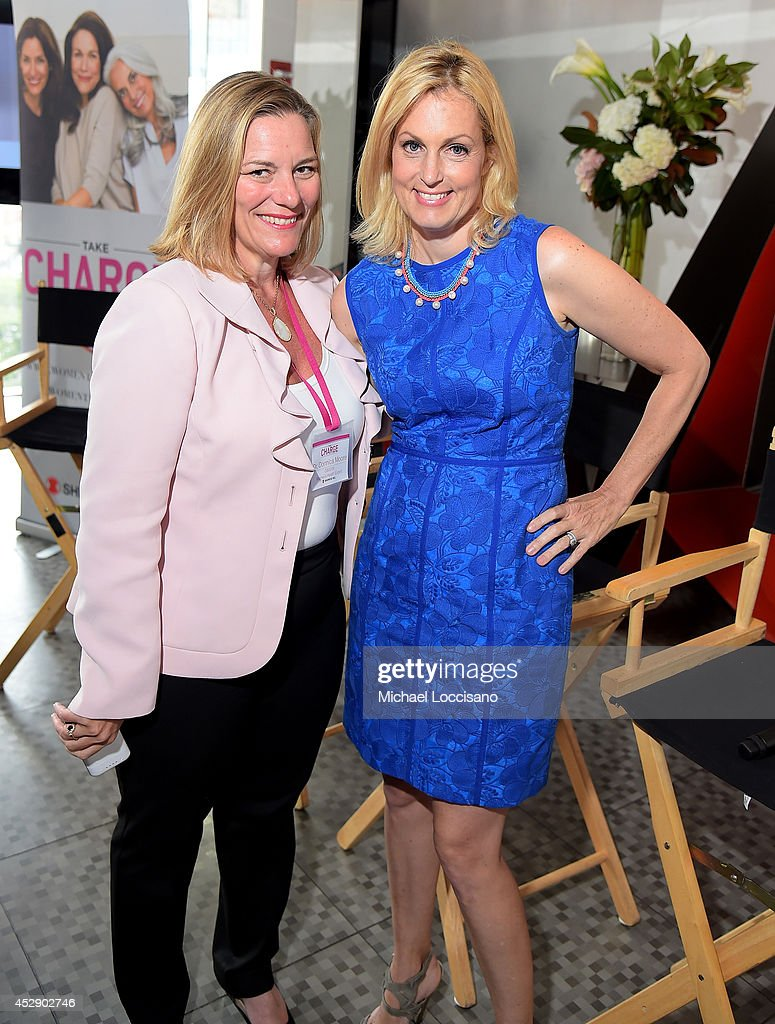 Dr. Donnica Moore (L) and Ali Wentworth attend Comedian Ali Wentworth Teams Up with Shionogi Inc. to Launch 'Women Take Charge' Campaign at Robert Restaurant on July 29, 2014 in New York City.