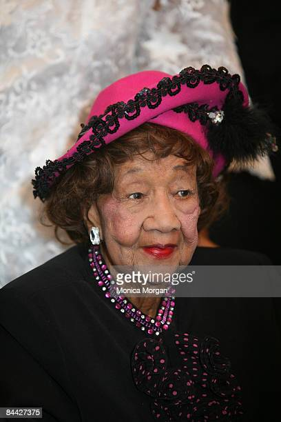 Dr Dorothy Height attends the African American Church Inaugural Ball at the Grand Hyatt Washington on January 18 2009 in Washington DC