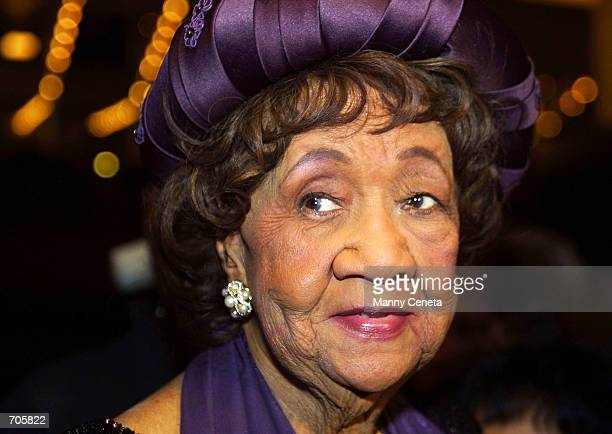 Dr Dorothy Irene Height attends the 2002 Uncommon Height Gala March 20 2002 in Washington DC The National Council of Negro Women celebrates womens...