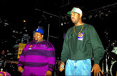 Dr Dre and Ed Lover during Dr Dre and Ed Lover at Marquee 1992 at Marquee in New York City New York United States