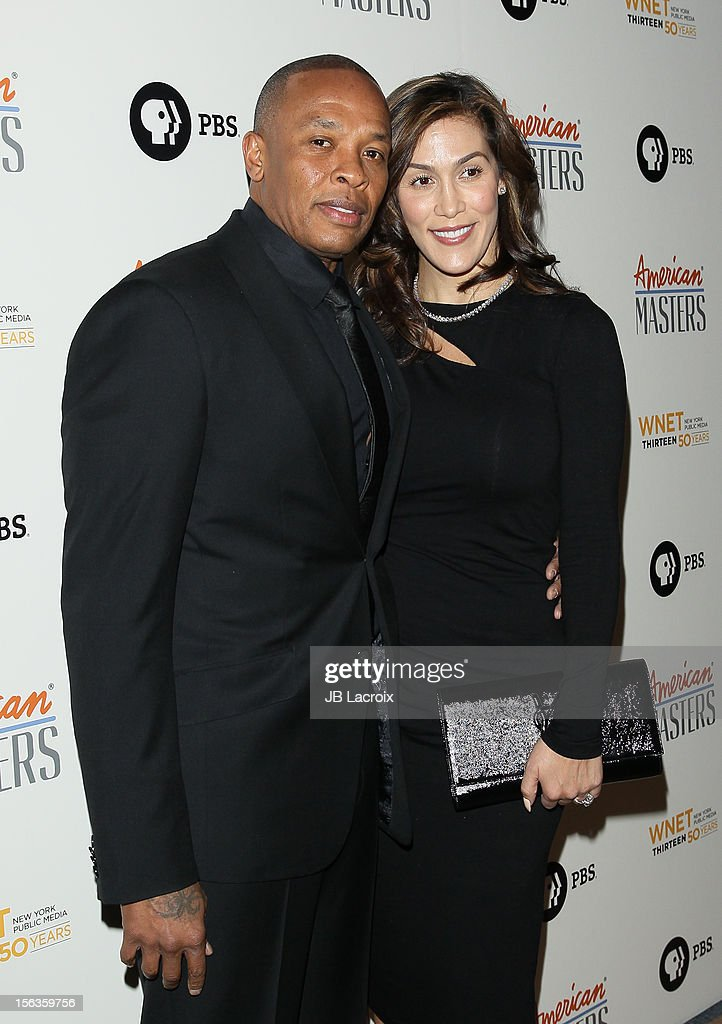 Dr. Dre and Nicole Threatt attend the 'Inventing David Geffen' Los Angeles Premiere held at Writer's Guild Theater on November 13, 2012 in Los Angeles, California.