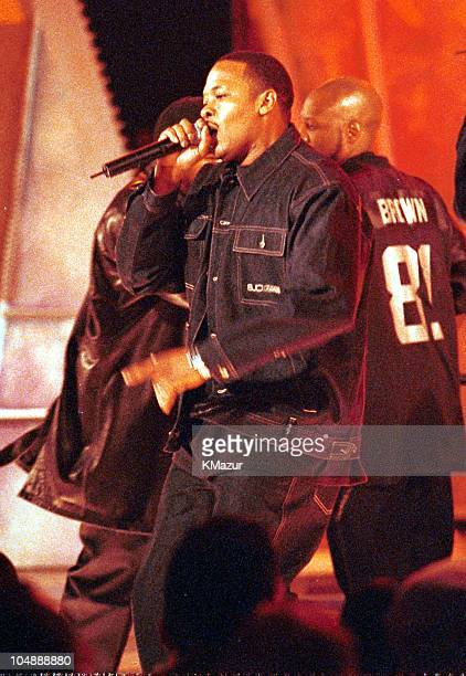 Dr Dre and NWA during The 2000 BET Awards in Los Angeles California United States
