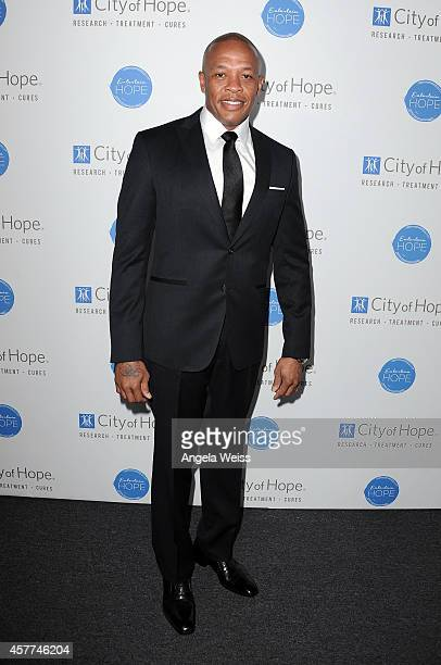 Dr Dre attends the City of Hope Spirit of Life Gala honoring Apple's Eddy Cue at the Pacific Design Center on October 23 2014 in West Hollywood...