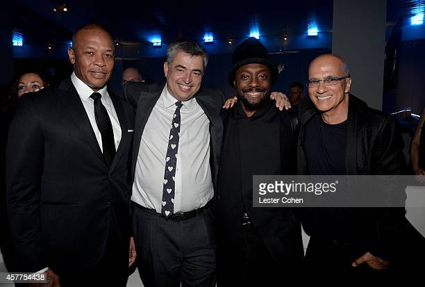 Dr Dre honoree Eddy Cue william and Jimmy Iovine attend the City of Hope Spirit of Life Gala honoring Apple's Eddy Cue at the Pacific Design Center...
