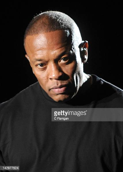 Dr Dre performs during day 3 of the 2012 Coachella Music Festival at The Empire Polo Club on April 15 2012 in Indio California