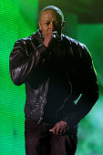 Dr Dre performs onstage during The 53rd Annual GRAMMY Awards held at Staples Center on February 13 2011 in Los Angeles California