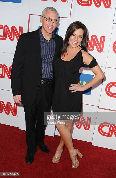 Dr Drew Pinsky and CCN's Robin Meade attend the CNN Worldwide AllStar 2014 Winter TCA Party at Langham Hotel on January 10 2014 in Pasadena California