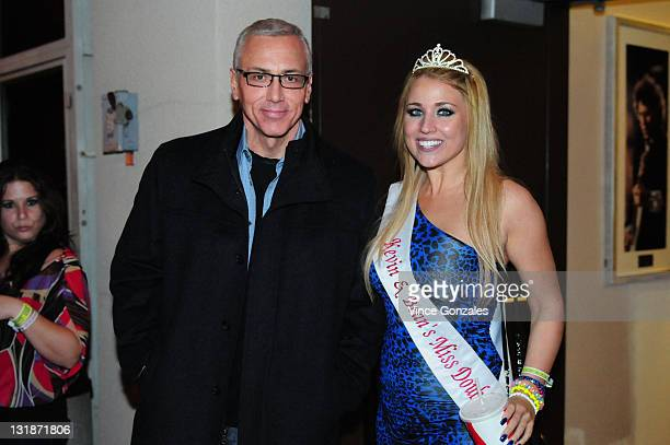 Dr Drew Pinsky and Miss Double Dcember Christine Miles attend KROQ's 2011 Kevin Bean's April Foolishness at Gibson Amphitheatre on April 2 2011 in...