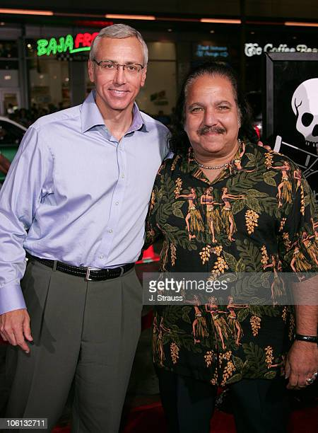 Dr Drew Pinsky and Ron Jeremy during 'Jackass Number Two' Los Angeles Premiere Arrivals at Grauman's Chinese Theatre in Hollywood California United...