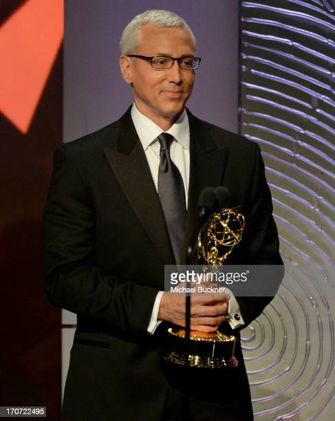 Dr Drew Pinsky speaks onstage during the 40th Annual Daytime Emmy Awards at the Beverly Hilton Hotel on June 16 2013 in Beverly Hills California...