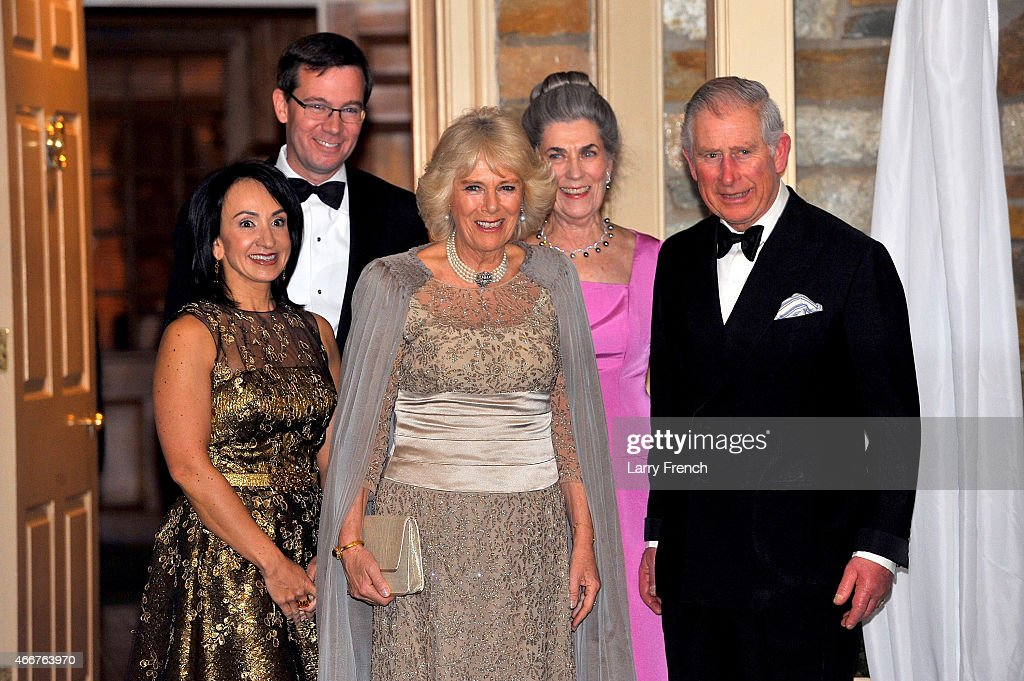 Dr. Elena Allbritton, Robert Allbritton, Camilla, Duchess of Cornwall, the Duchess of Cornwall, Barby Allbritton, chairman of the Prince of Wales' U.S. Foundation and Prince Charles, Prince of Wales attend a reception and dinner for the Prince of Wales' U.S. Foundation on March 18, 2015 in Washington, DC.
