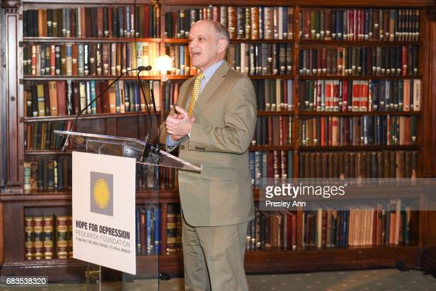 Dr Eric Nestler attends Audrey Gruss' Hope for Depression Research Foundation Dinner with Author Daphne Merkin at The Metropolitan Club on May 15...