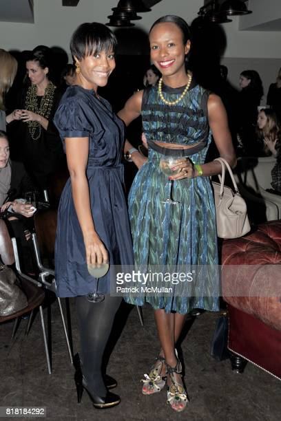 Dr Erika Faust and Shala Monroque attend 'Forgotten Fashion' book party honoring the release of Let's Bring Back by Lesley MM Blume at Library on...