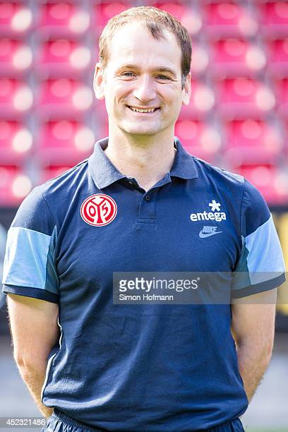 Dr Felix Post poses during the 1 FSV Mainz Team Presentation at Coface Arena on July 18 2014 in Mainz Germany