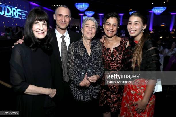 Dr Francine Kaufman Joel Fields Sybil Fields Debra Fields and guest attend JDRF LA's IMAGINE Gala to benefit type 1 diabetes research at The Beverly...
