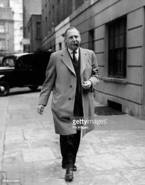 Dr Francis E Camps Home Office pathologist leaves Middleton Buildings Marylebone London where he viewed the body of Rosemary Dansen found in front of...