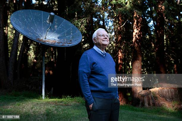 Dr Frank Drake the founder of SETI poses for a portrait at his home in Aptos California Friday February 27 2015 Dr Drake also created the Arecibo...