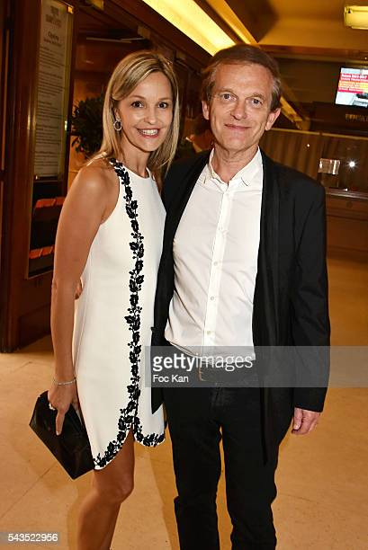Dr Frederic Saldmann and his wife Marie Saldmann attend 22th Amnesty International France Gala at Theatre des Champs Elysees on June 28 2016 in Paris...