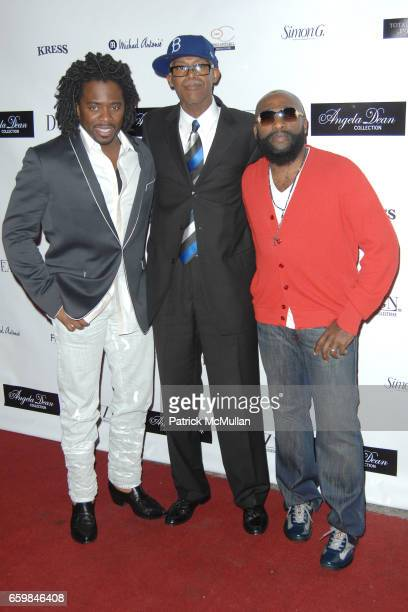 Dr Gabe Jonathan Dean and Anthony Henderson attend ANGELA DEAN LAUNCHES ANGELA DEAN RTW COLLECTION at The Kress on November 12 2009 in Hollywood...
