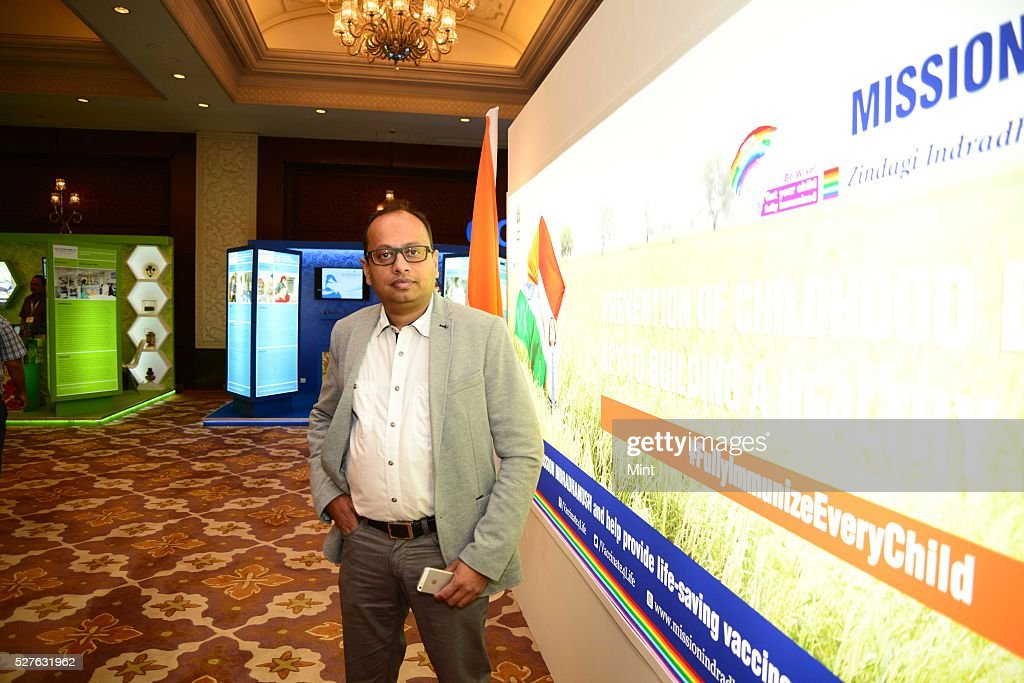 Dr. Gagan Gupta Health specialist for UNICEF for an interview at Taj Palace Hotel on August 27, 2015 in New Delhi, India.