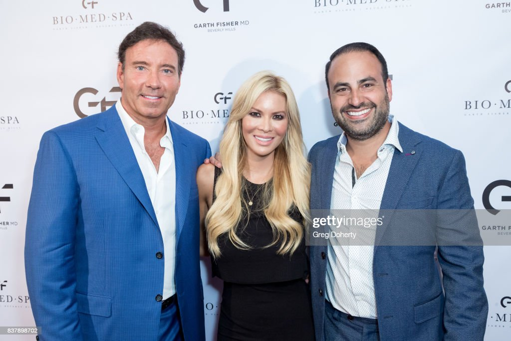 Dr. Garth Fisher, Chanel Lee and Dr. Ben Talley attend the Official Launch Party Of Dr. Garth Fisher's BioMed Spa at Garth Fisher MD on August 22, 2017 in Beverly Hills, California.