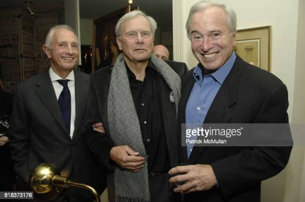 Dr Gerald Imber Tom Brokaw and Ken Auletta attend JUDY LICHT and JERRY DELLA FEMINA Host the GENIUS ON THE EDGE Book Party at Private Residence on...